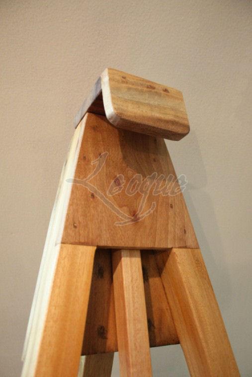 Tripod Wooden Display Easel Adjustable Wood Grip Leoque