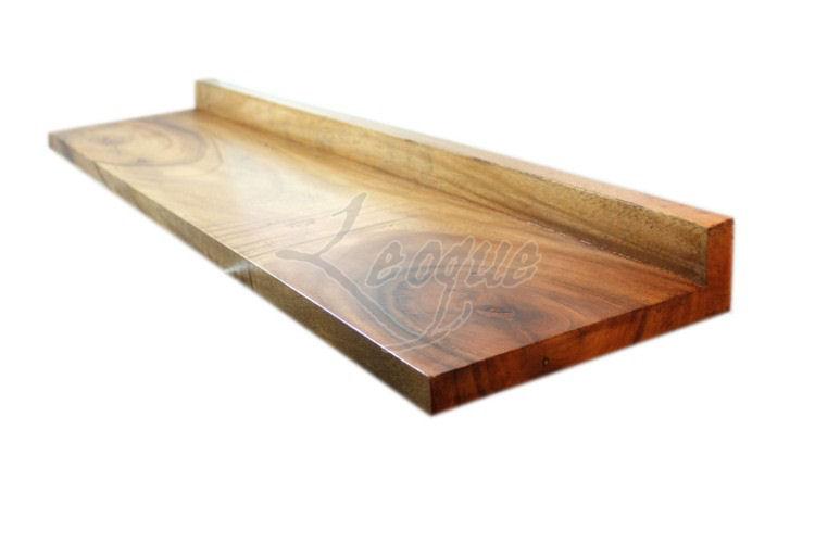 Solid wood plank shelf