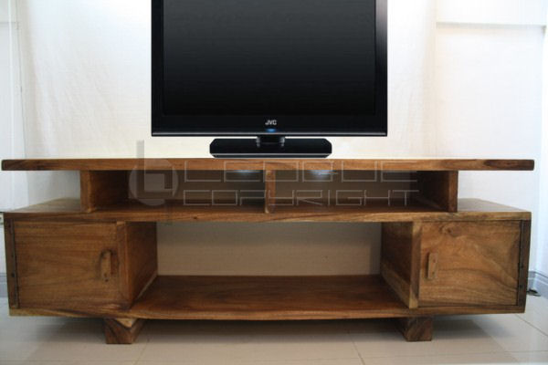 flat slim tv rack natural mottiv nat leoque. Black Bedroom Furniture Sets. Home Design Ideas