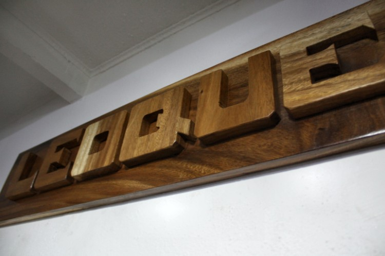 Name Plates Made of Wood