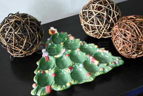 Christmas Tree Plate Egg Holder Or Coin Holder Too