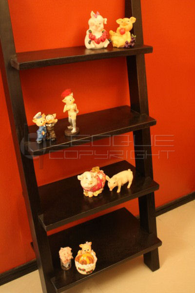 4 Tier Ladder Shelving Bookcase Streamlined Version