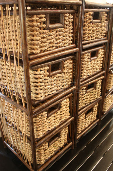 Rattan Abaca 4 Drawer Storage Leoque Collection One