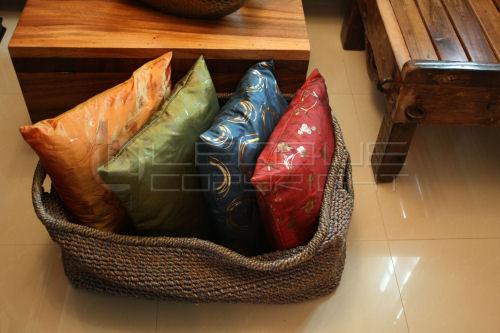 Large Abaca Basket Knickknacks Toys Fabric Storage