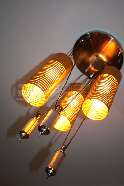 Modern 3-light steel lamp, droplight, chandelier : Leoque ...