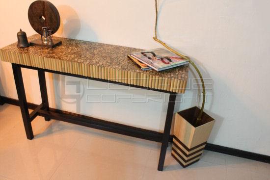 Decorus Pierreu201d Laminated Bamboo Sticks Console Table : Leoque ...