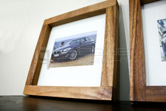 12 inches by 12 inches picture frame thick wood - Natural Wood Frame