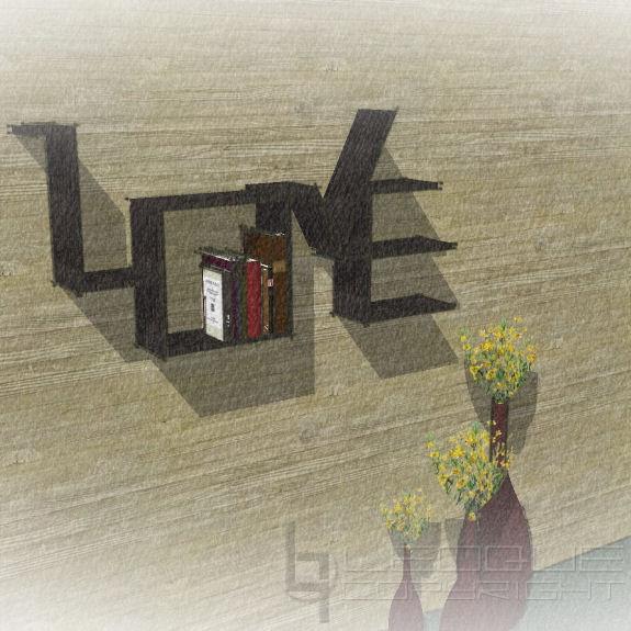 Shelter Bookshelves Series Love Bookcase Leoque