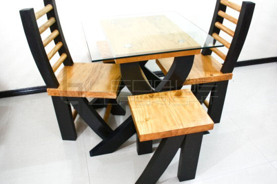"""Zamboa"""" Dining Set (1 table + 4 dining chairs) : Leoque Collection ..."""