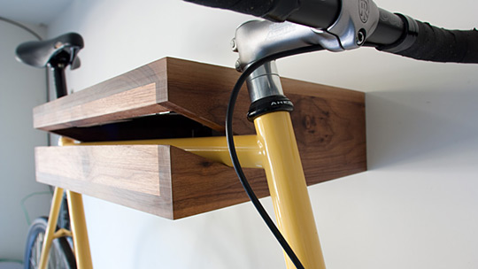 Wood Bike Shelf