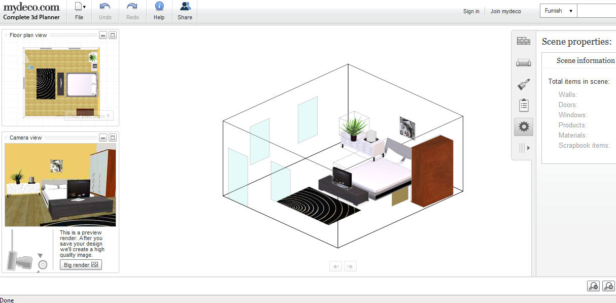 High Quality Mydeco 3D Room Planner