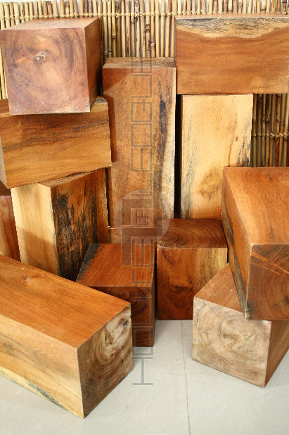 Wood Blocks Short Acacia Pedestals Leoque Collection One Look One Collection Philippine