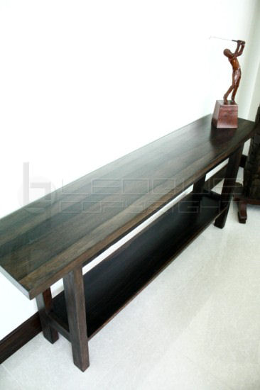 Kamagong Wood Long Amp Solid Console Table Leoque