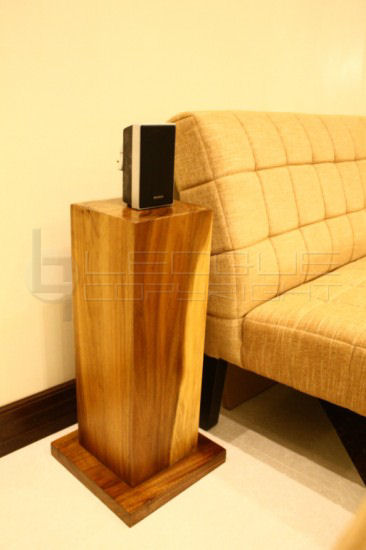 Surround Speaker Right On Top Of The Stand Pedestal