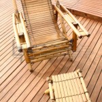 outdoor bamboo chair with foot stool