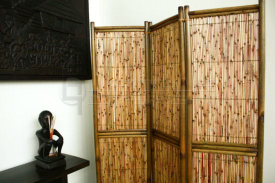 YUPIN 3 Panel Bamboo Divider Leoque Collection One Look