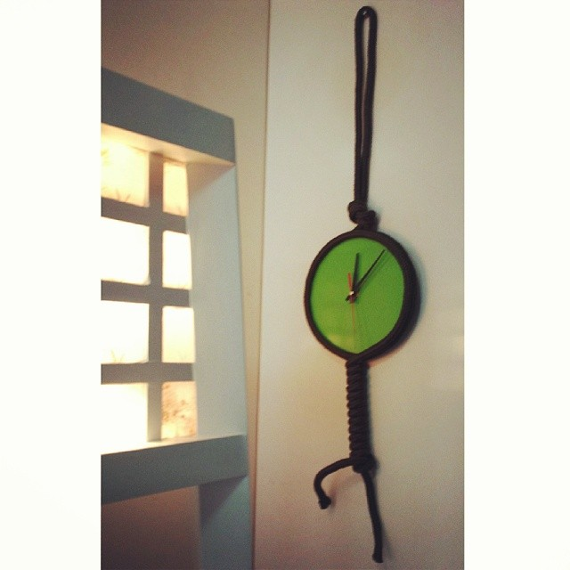 Hanging Wall Clock Rope N Glass Leoque Collection