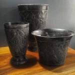 metal-vases-antique-look-fish-designs