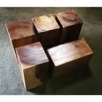 Blocks of acacia wood center table