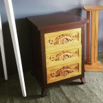 Chest of (3) Drawers with carving design