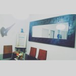Horizontal dining room mirror