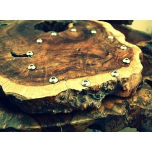 hardwood clock project