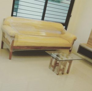 Customized sofa, wood frame, upholstered