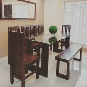 Ten Seater All Wood Dining Set Leoque