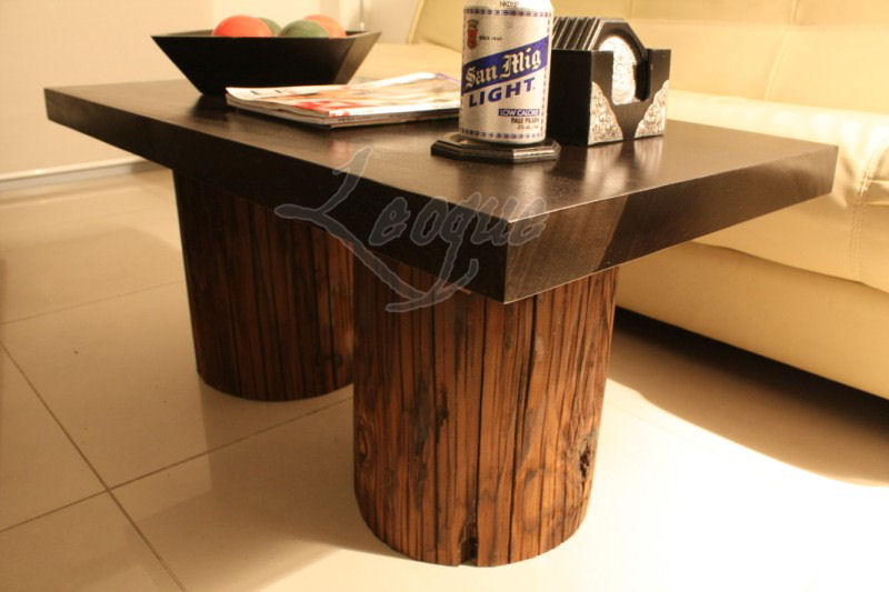 """""""POSTEURE"""" 2-Tone, Center Table w/ Yakal Posts : Leoque ..."""